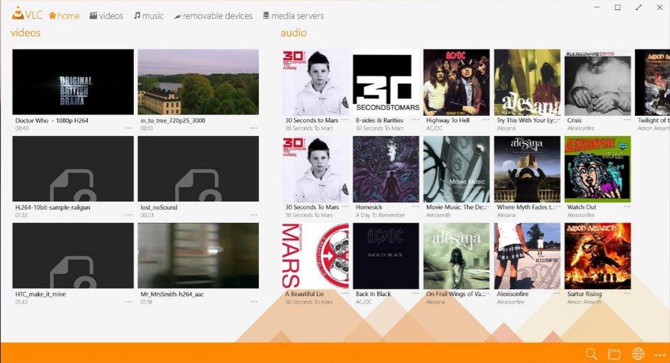 Den VLC Media Player gibt es unter Windows 10 auch als App.