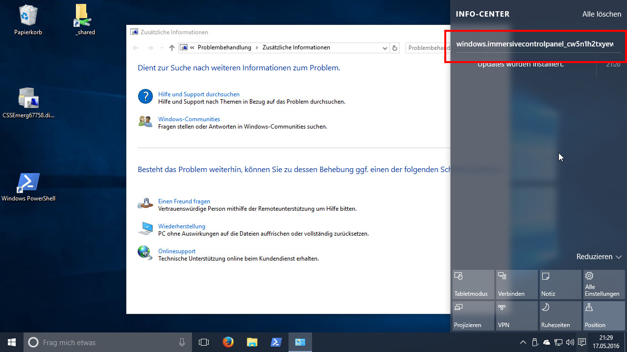 windows 10 desktop einstellen