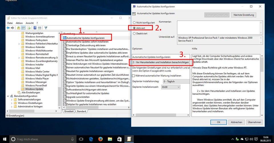 Windows 10 Pro: So konfiguriert ihr eure automatischen Updates.