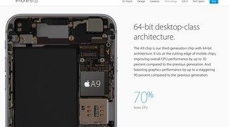 Apple A9 im iPhone 6s zum Teil schneller als MacBook-Chip