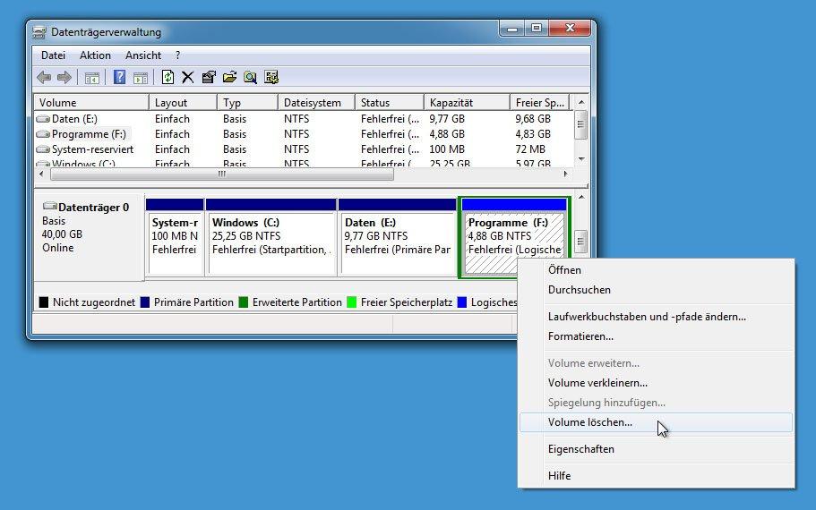 Externe festplatte partitionen zusammenführen