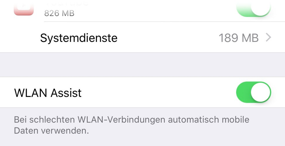 WiFi Assist in iOS 9