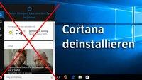 Cortana deinstallieren, deaktivieren, ausblenden oder blockieren – so geht's