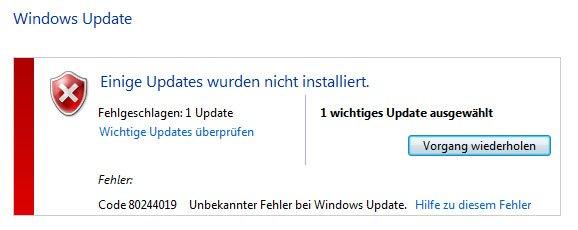 Windows 7 und 8 verweigern unter neuen Prozessoren die Installation von Windows-Updates.