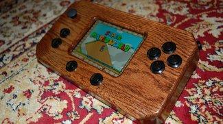 Beeindruckend: Selbstgebauter Android-Handheld aus Holz für Retrogames