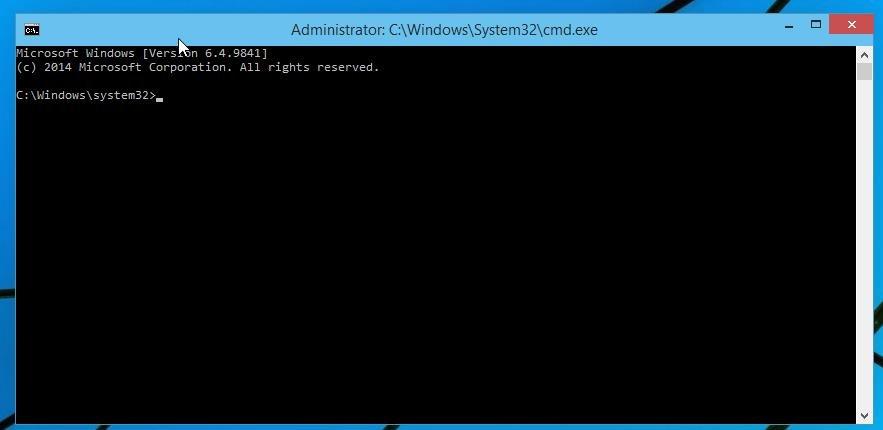 Windows 10 Eingabeaufforderung