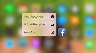 Facebook-App unterstützt jetzt 3D Touch