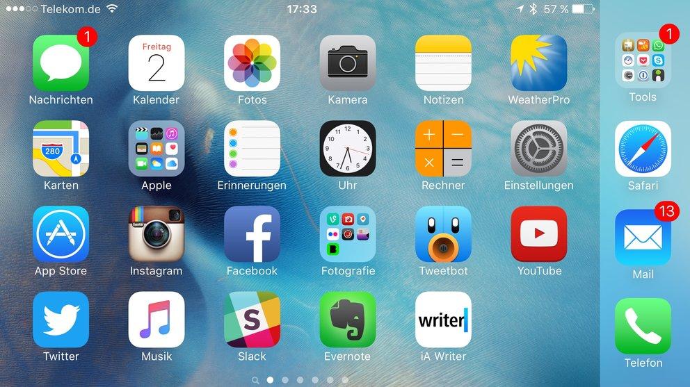 iPhone 6s Plus – Querformat-Modus