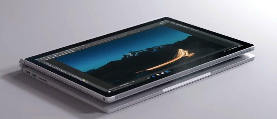 Das Display des Surface Pro lässt sich umgekehrt anbringen, um es als Tablet zu nutzen und die Power der Grafikeinheit in der Tastatur zu nutzen.