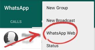 Wählt auf dem Smartphone WhatsApp Web aus. Bildquelle: whatstablet.com