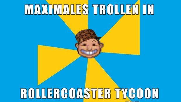 Spieler vs. Parkbesucher: So geht Trolling in RollerCoaster Tycoon!