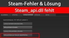 Steam_api.dll fehlt – Ursache und Lösung des Steam-Fehlers