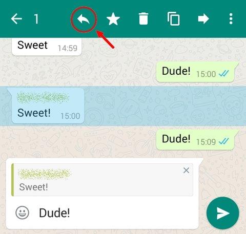 WhatsApp Zitierfunktion