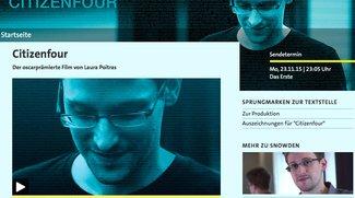 Edward-Snowden-Dokumentation Citizenfour jetzt in der ARD-Mediathek