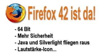 Firefox 42 - Mehr Sicherheit und endlich 64 Bit!