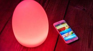 Elgato Avea Flare: das bunte Leucht-Ei mit Akku und Smartphone-Steuerung