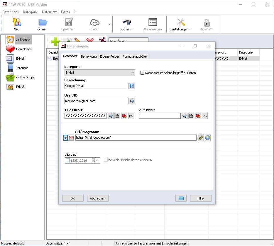 1PW-Passwortmanager