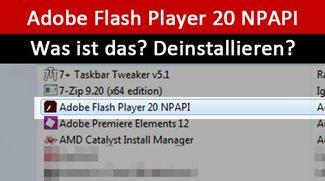 Adobe Flash Player 20 NPAPI: Was ist das? Deinstallieren?
