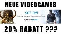 Amazon Prime: 20% Rabatt auf Games-Vorbestellungen und neue Spiele - im Ausland, bald auch bei uns?