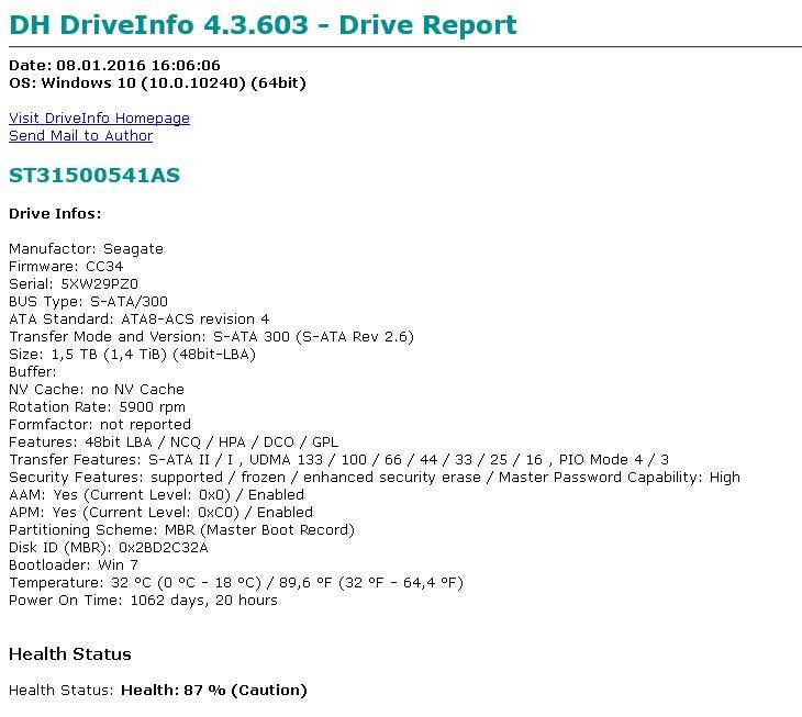 DriveInfo-Report