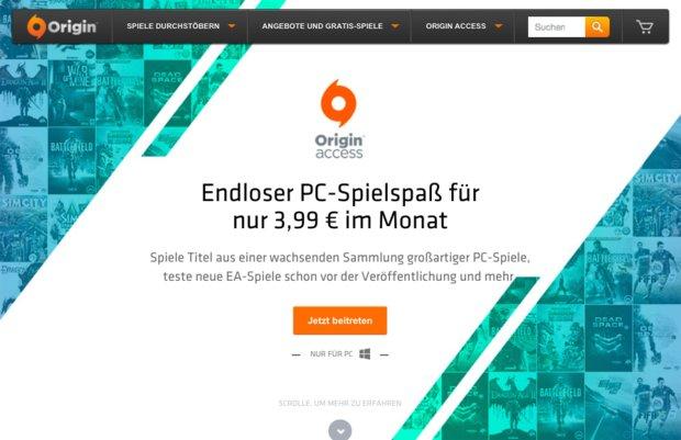 Origin Access: PC-Abo-Dienst jetzt auch in ganz Europa verfügbar
