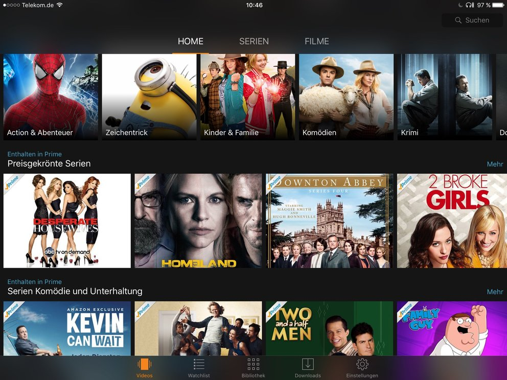 Amazon Prime: Filmstreaming auf dem iPad
