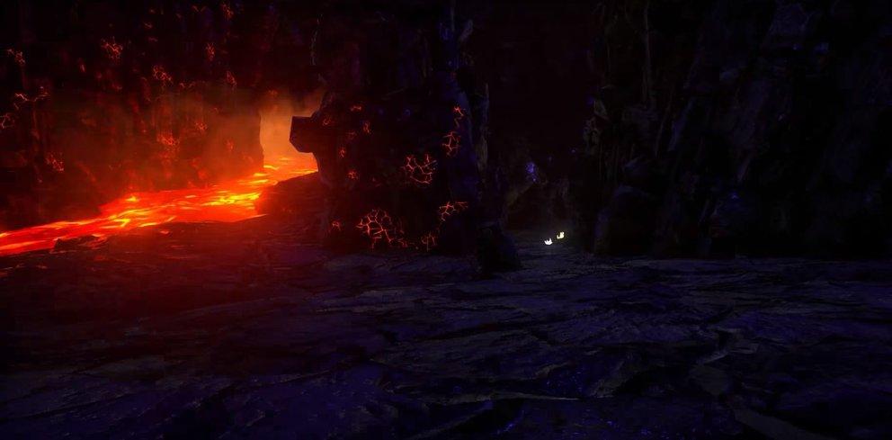 Befindet sich Lava in einer Höhle in ARK: Survival Evolved, sind die Temperaturen immer sehr hoch
