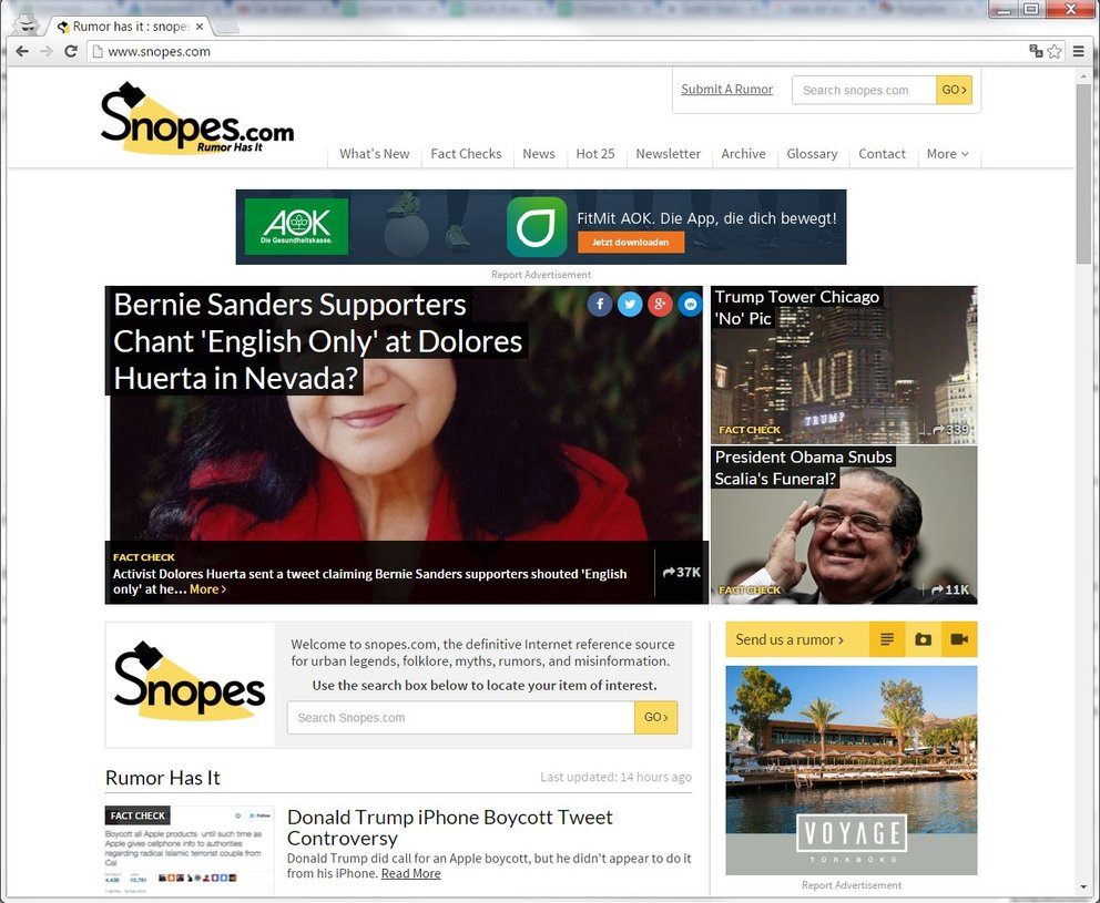 Snopes oder auch Snoops