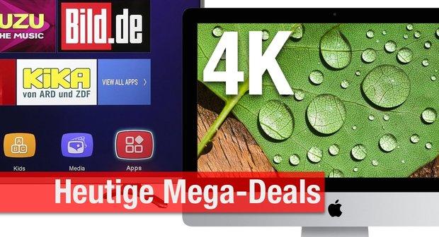 CyberSale & Blitzangebote:<b> 4K-iMac für nur 1.449 Euro! + 4K-TVs, USB-3.0-Hubs, Festplatten u.v.m. billiger zum Bestpreis</b></b>