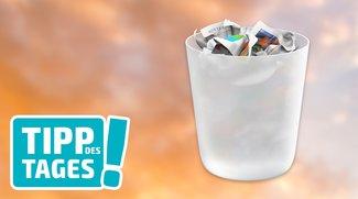 Mac-Tipp: Papierkorb von OS X sicher entleeren