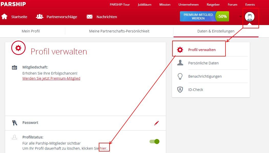 single.de profil löschen Aalen
