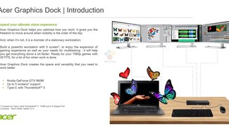Acer Graphics Dock: Externe Grafikkarte für 2-in-1-Geräte mit Windows 10