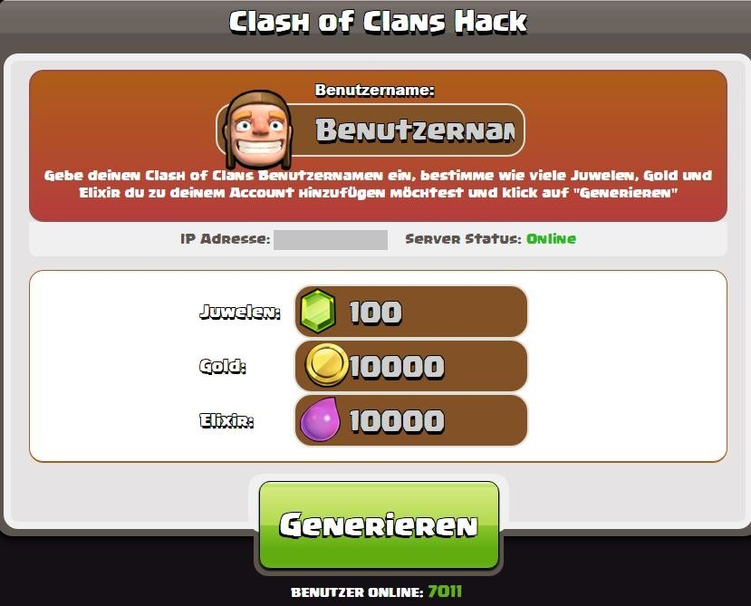 Clash of Clans Cheats Android iOS