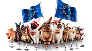 EURO-Osterhasen-Rasen: Volle Möhre bei Media Markt