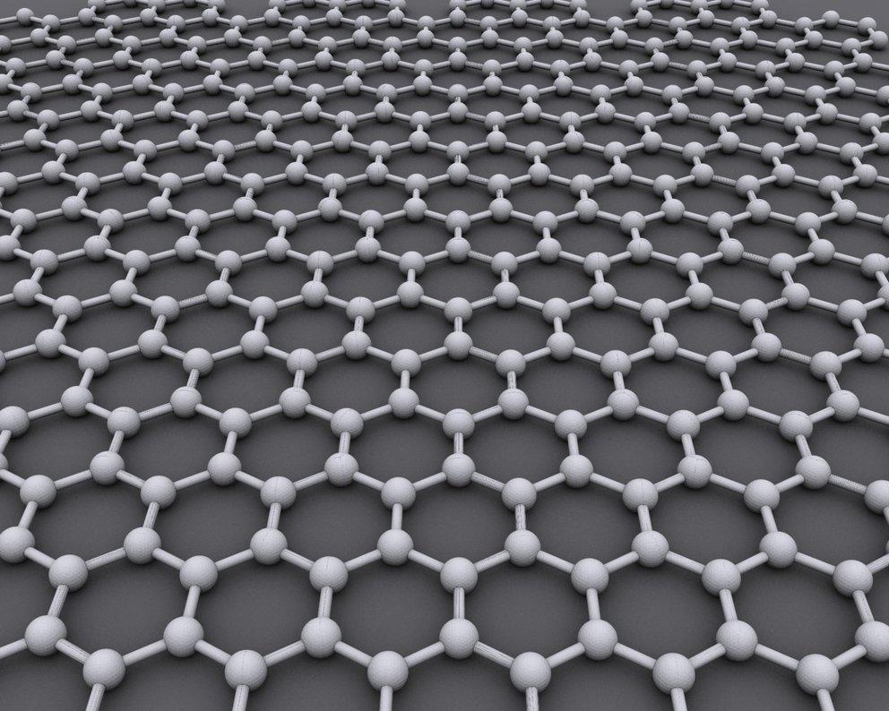 Die wabenförmige Struktur von Graphene ist kennzeichnend für das Material.