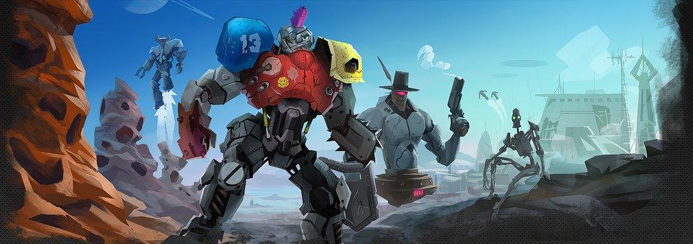 Ein von Menschen verlassener Planet - und ihr seid mittendrin und kämpft als Roboter.