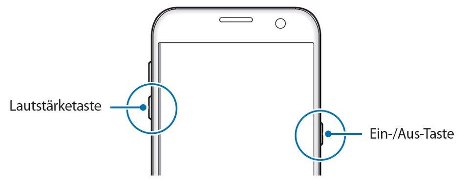 Haltet diese beiden Tasten gedrückt, um das S7 (edge) neu zu starten.