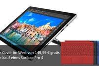 Deal: Microsoft Surface Pro 4 kaufen, Type Cover für 149,99 Euro gratis dazu