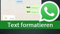 WhatsApp: Fett, kursiv, durchgestrichen & Schreibmaschine schreiben – so gehts