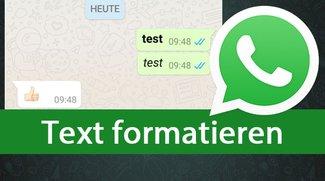 WhatsApp-Text formatieren: Fett, kursiv, durchgestrichen & Schreibmaschine schreiben – so gehts