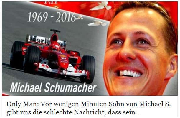 michael schumacher tot fake meldung auf facebook giga. Black Bedroom Furniture Sets. Home Design Ideas