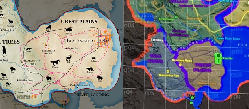 Links seht ihr die alte Karte aus dem ersten Teil, rechts die (angeblich) neue.