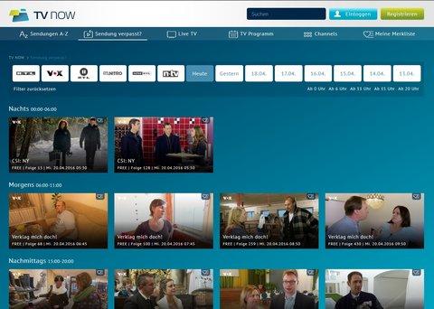 VOX Mediathek TV NOW Sendung verpasst
