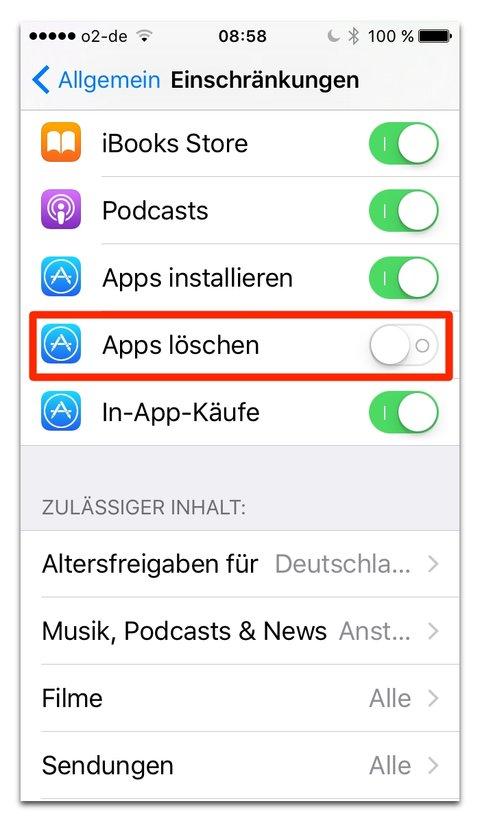 Iphone 7 Seiten Löschen