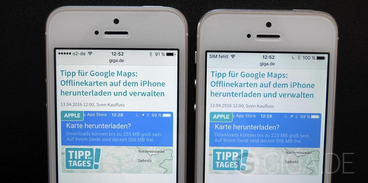 Bildschirm Im Vergleich IPhone SE Links Vs 5 Rechts