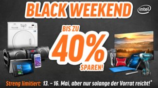 Black Weekend bei Notebooksbilliger.de: Bis zu 40 Prozent Rabatt auf Smartphones, Tablets, Notebooks, Monitore und mehr
