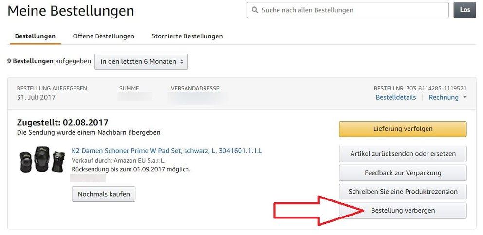 Amazon: Meine Bestellungen verbergen und ausblenden - so
