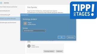 Windows 10: Benutzerkonto hinzufügen, ändern und löschen - so geht's