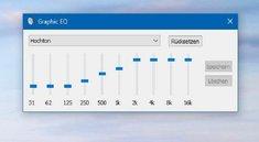 Windows 10: Equalizer einstellen – so geht's