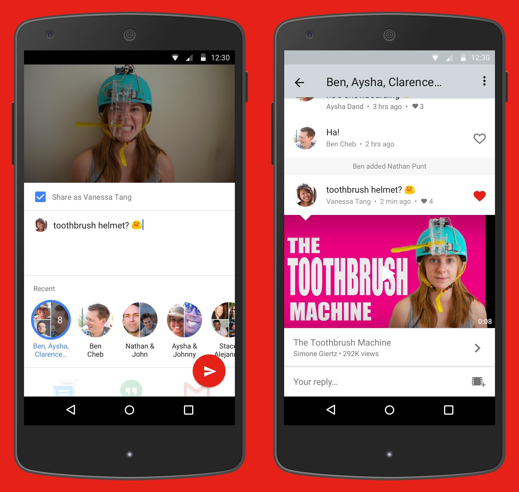 youtube messenger chat funktion der video app in. Black Bedroom Furniture Sets. Home Design Ideas
